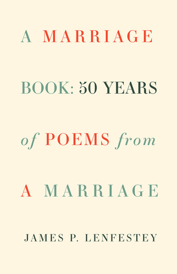 A Marriage Book - 50 Years of Poems from a Marriage - cover