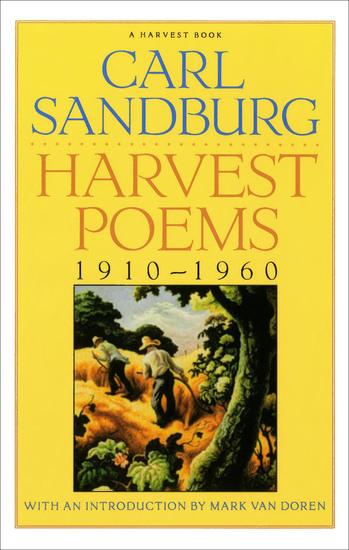 Harvest Poems - 1910–1960 - cover
