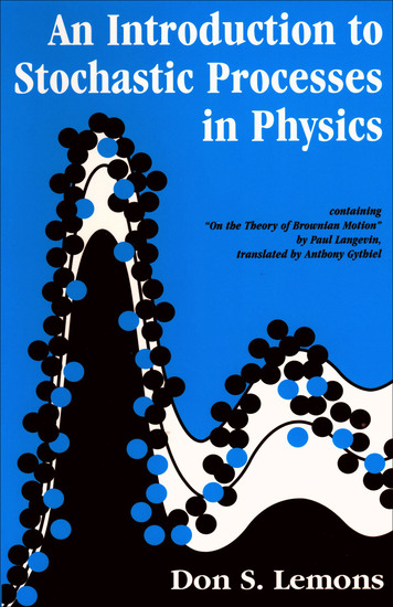 An Introduction to Stochastic Processes in Physics - cover