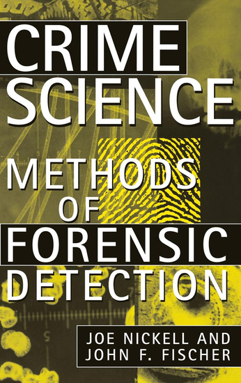 Crime Science - Methods of Forensic Detection - cover