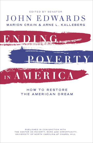 Ending Poverty in America - How to Restore the American Dream - cover