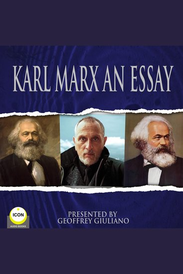 Karl Marx An Essay - cover