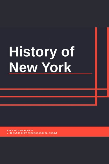 History of New York - cover