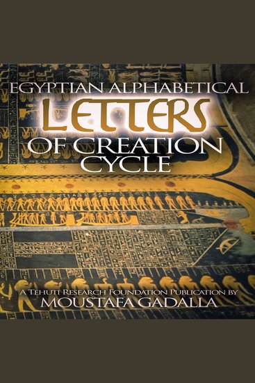 Egyptian Alphabetical Letters of Creation Cycle - cover