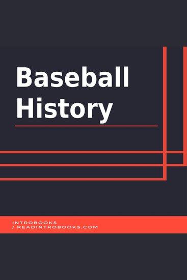Baseball History - cover