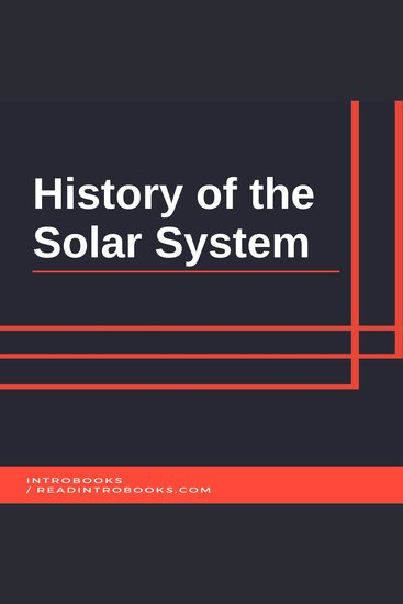 History of the Solar System - cover