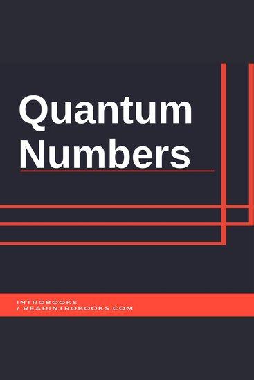 Quantum Numbers - cover
