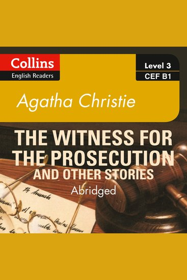 Witness for the Prosecution and other stories: B1 - cover