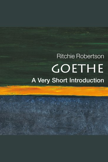 Goethe - A Very Short Introduction - cover