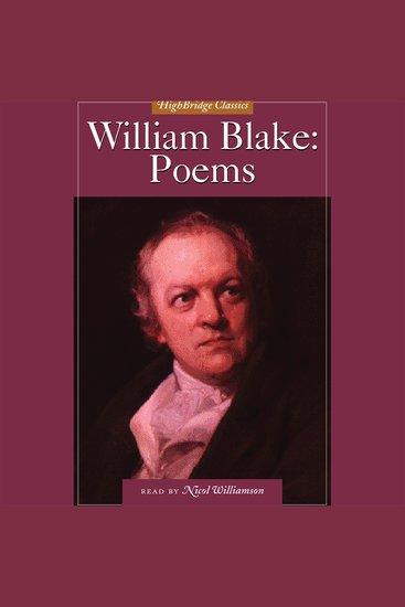 William Blake: Poems - cover