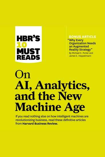 HBR's 10 Must Reads on AI Analytics and the New Machine Age - cover