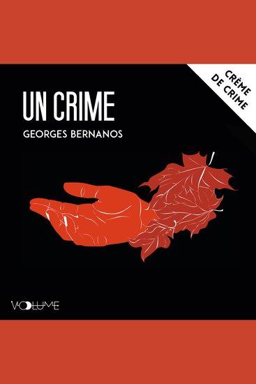 Un crime - cover
