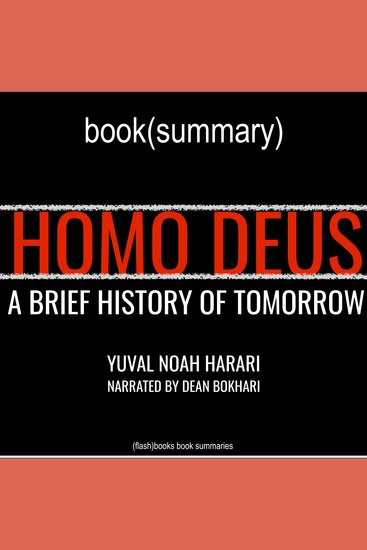 Homo Deus by Yuval Noah Harari - Book Summary - A Brief History of Tomorrow - cover