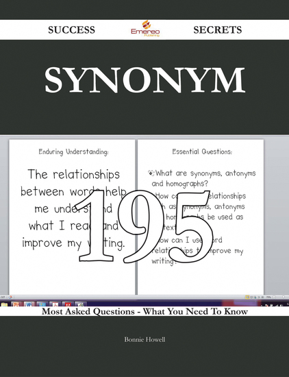 Synonym 195 Success Secrets - 195 Most Asked Questions On