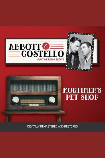 Abbott and Costello: Mortimer's Pet Shop - cover