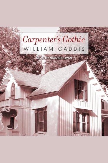 Carpenter's Gothic - cover