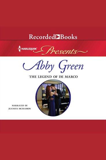 The Legend of de Marco - cover