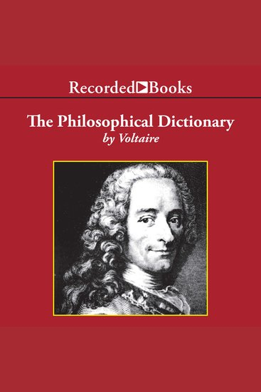 The Philosophical Dictionary - cover
