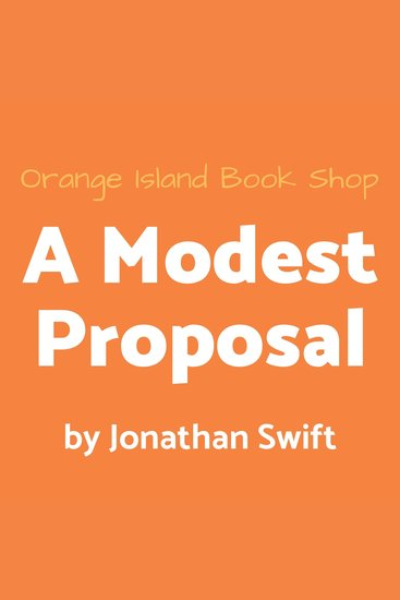 A Modest Proposal - cover