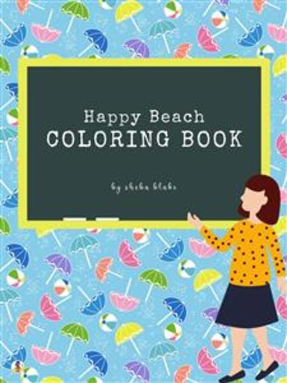 Happy Beach Coloring Book for Kids Ages 3+ (Printable Version) - cover