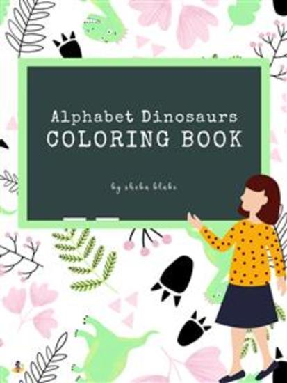 Alphabet Dinosaurs Coloring Book for Kids Ages 3+ (Printable Version) - cover