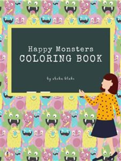 Happy Monsters Coloring Book for Kids Ages 3+ (Printable Version) - cover