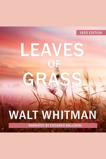 Leaves of Grass - 1855 Edition - cover