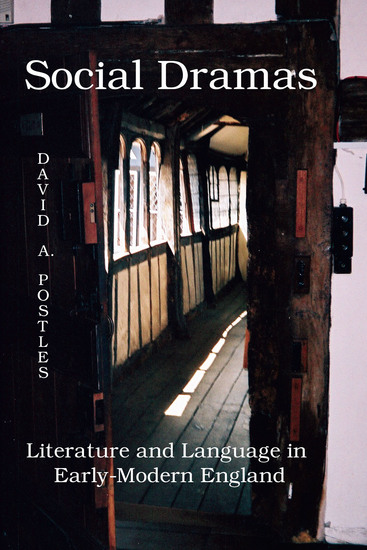 Social Dramas - Literature and Language in Early-Modern England - cover