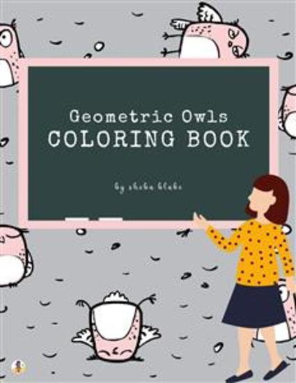 Geometric Owls Coloring Book for Teens (Printable Version) - cover