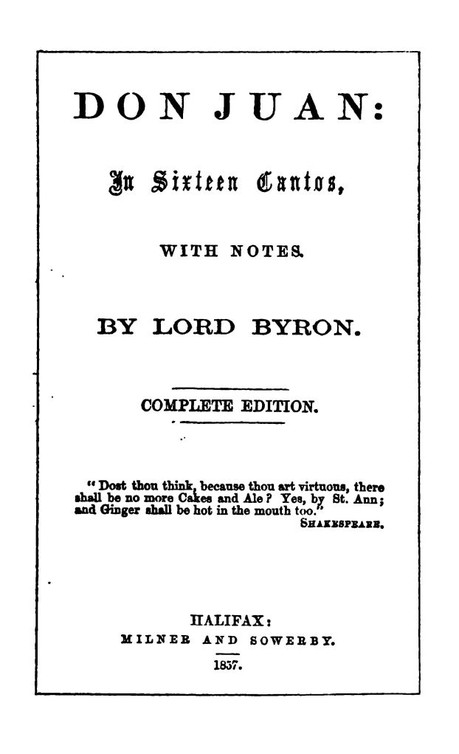 poetry research project lord byron essay George gordon byron was born on january 22, 1788, in aberdeen, scotland, and inherited his family's english title at the age of ten, becoming baron byron of rochdale.