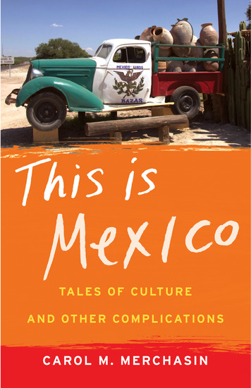 This Is Mexico - Tales of Culture and Other Complications - cover
