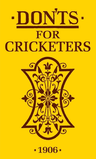 Don'ts for Cricketers - cover