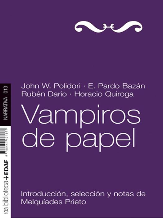 Vampiros de papel - cover