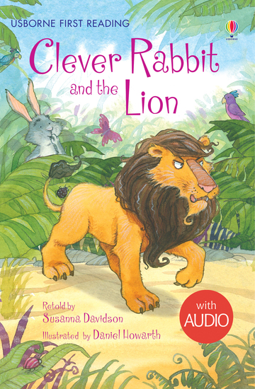 Clever Rabbit and the Lion - Usborne First Reading - cover