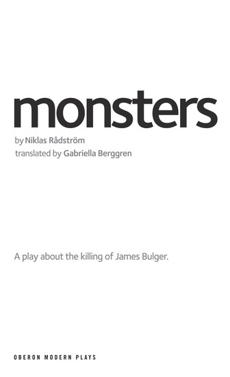 Monsters - A play about the killing of James Bulger - cover