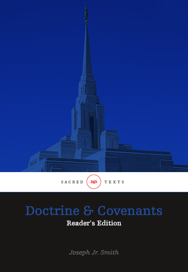 Doctrine & Covenants - Reader's Edition - cover