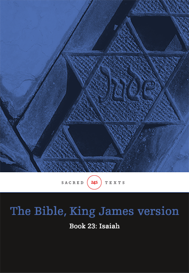 The Bible King James version - Book 23: Isaiah - cover