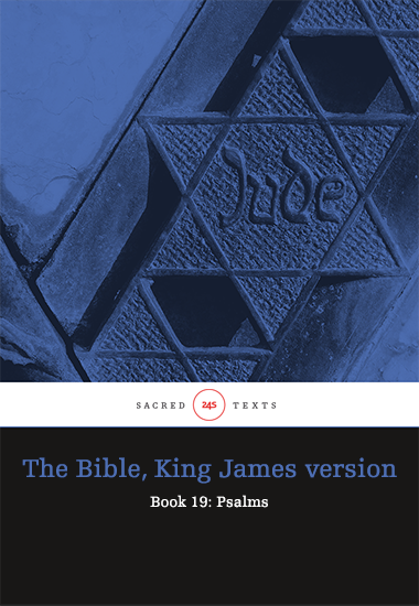 The Bible King James version - Book 19: Psalms - cover