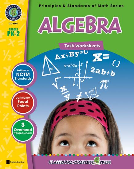 Algebra - Task Sheets Gr PK-2 - cover