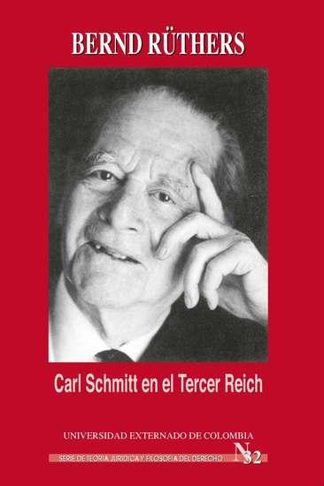 Carl Schmitt en el Tercer Reich - cover