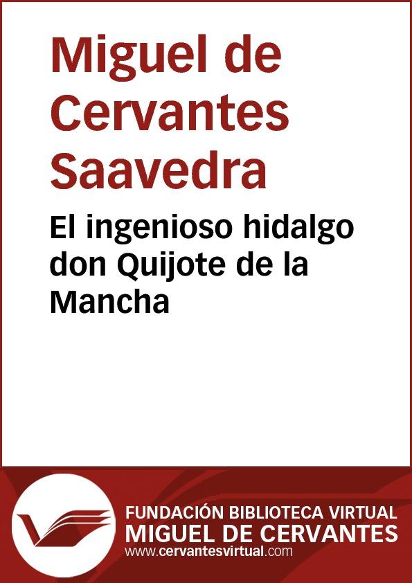 El ingenioso hidalgo don Quijote de la Mancha - cover