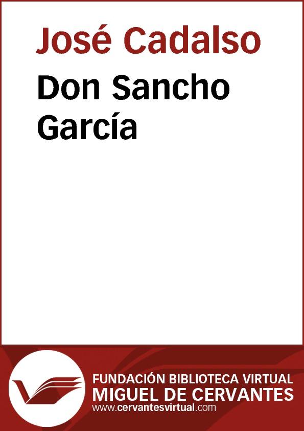 Don Sancho García - cover