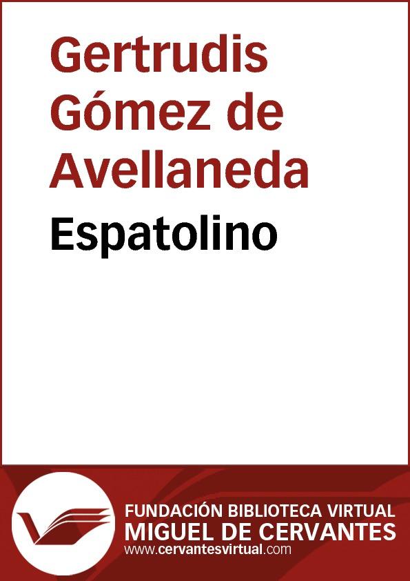 Espatolino - cover