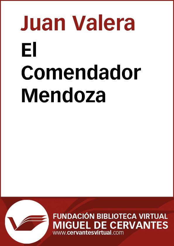 El Comendador Mendoza - cover