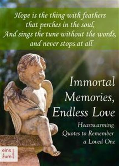 Immortal Memories Endless Love   Heartwarming Quotes To Remember A Loved One    Memorial Quotes Gravestone