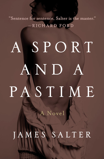 A Sport and a Pastime - A Novel - cover