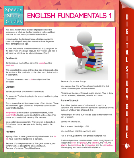 English Fundamentals 1 (Speedy Study Guides) - cover