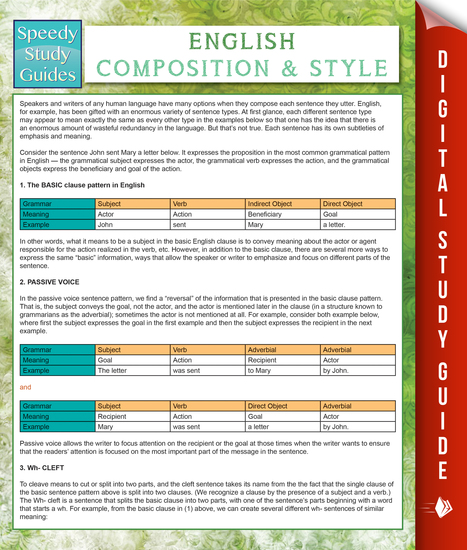 English Composition And Style (Speedy Study Guides) - cover