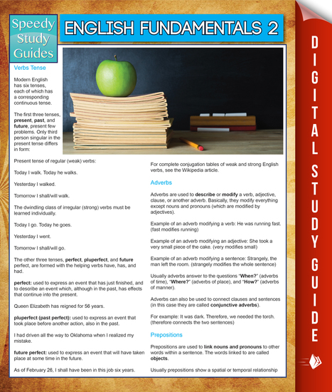 English Fundamentals 2 (Speedy Study Guides) - cover
