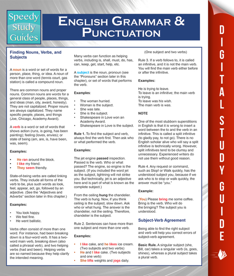 English Grammar And Punctuation (Speedy Study Guides) - cover